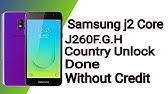 Samsung J260F Country Unlock Without Credits/Box   Free Country
