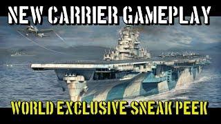 world of warships new carrier gameplay world exclusive sneak peek