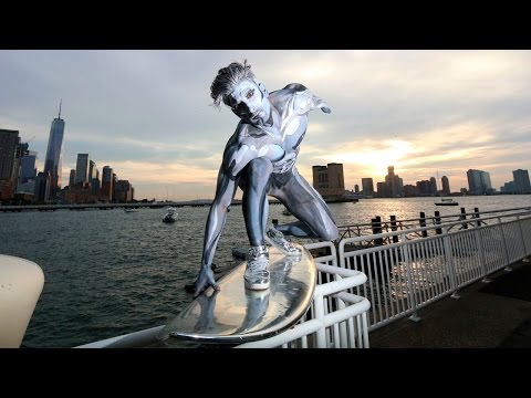 Thumbnail: EPIC SILVER SURFER HALLOWEEN COSTUME NYC!