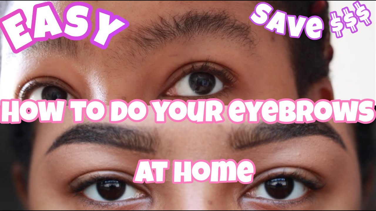 How to Shave Your Eyebrows with a Razor at Home // How to ...