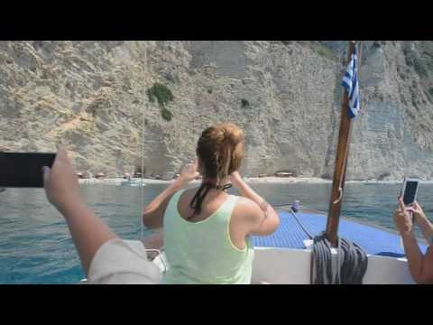 Sea travel Paradise Beach from Paleokastritsa, Corfu Greece 2016