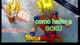 Como hacer a Goku en papel.