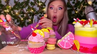 HUNNIBEE DROPPING THINGS FOR 3 MINUTES STRAIGHT *ASMR FOOD FALLING COMPILATION*