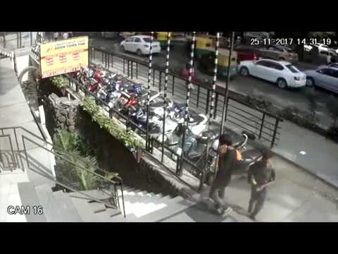 Smart scooter thief stealing from residency road