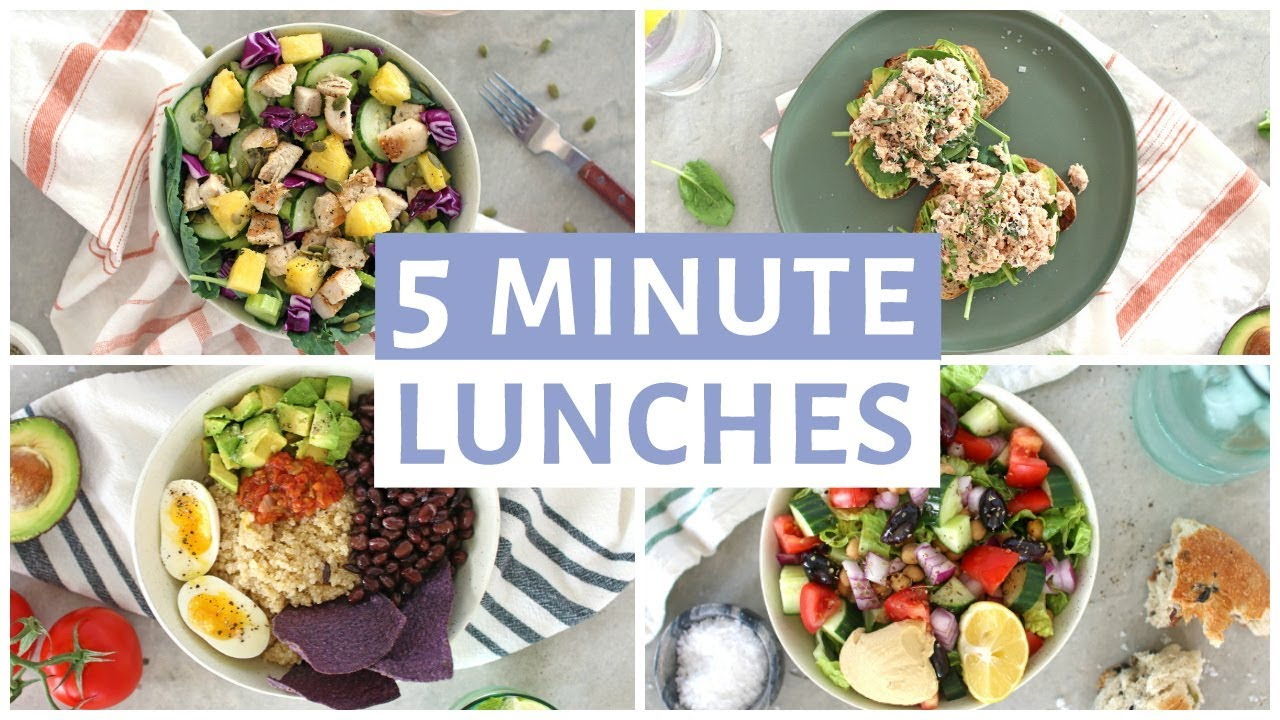 EASY 5 Minute Lunch Recipes