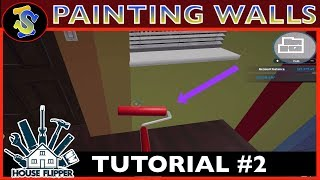 House Flipper Tutorial | How To Paint Walls | #TipsTricks #HouseFlipperTutorials