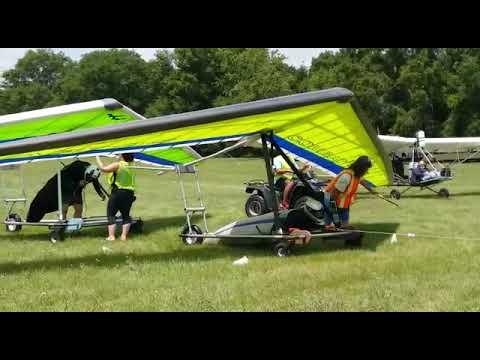 Towing hang gliding