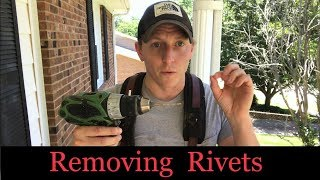 How To Remove Rivets...(Quick Guİde To Removing Rivets In Gutters/Aluminum/Plastic!)