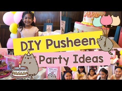 SABRINA At 7 - DIY Pusheen Birthday Party Ideas
