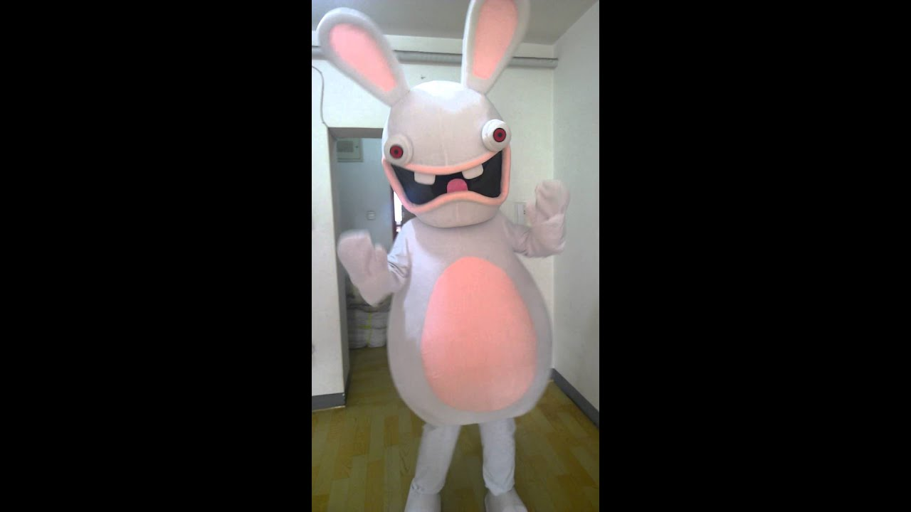 rayman raving rabbid rayman contre les lapins crtins cartoon mascot costume - Raving Rabbids Halloween Costume