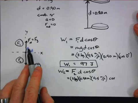 Physics Examples of Calculating Work