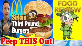 Mcdonald's® Sirloin Third Pound Burger | Lettuce & Tomato Review! Peep This Out!