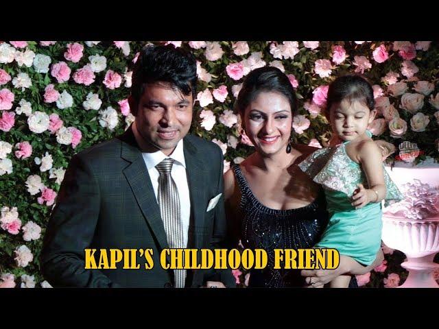 Chandan Prabhakar (CHANDU) with Wife at Kapil Sharma Wedding Reception