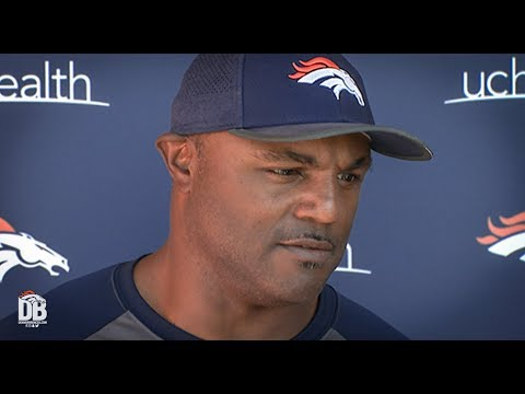 After practice: DC Joe Woods previews #NYGvsDEN
