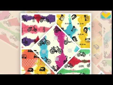 Handmade Paper Scrapbook Papers | Tie-Dye | Block Printed