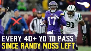 Every 40+ Yard TD Pass Since Randy Moss was Traded