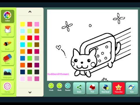 Nyan Cat Coloring Page YouTube