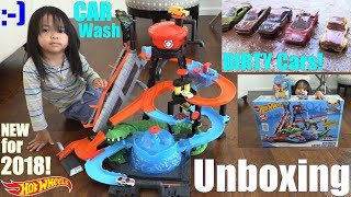 NEW Hot Wheels Ultimate Gator CAR WASH Playset Unboxing! Diecast CAR WASH Playtime. Toys!