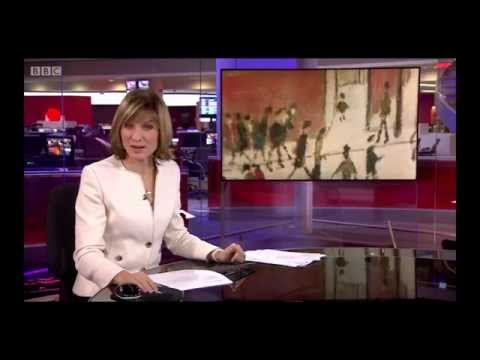 BBC News at Ten (2014/11/28) feature on L.S. Lowry's first ever museum exhibition in China