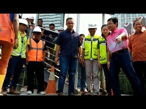 Jelang Asian Games, Anies Baswedan Tinjau Kesiapan Venue Trek Maraton di Jalan Thamrin