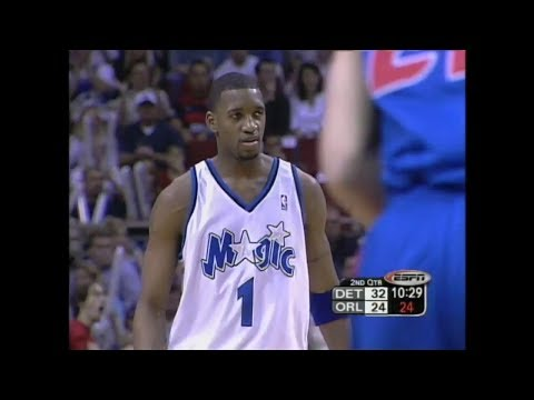 Tracy McGrady Full Highlights 29 Pts 5 Ast 3 Blk vs Detroit Pistons (2003 Playoffs R1 G3)