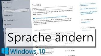Windows 10 Sprache ändern: So ändert ihr die Anzeigesprache in Windows 10