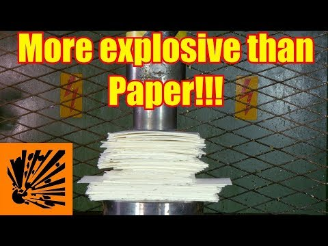 Crushing Huge Pile of Pulp with Hydraulic Press