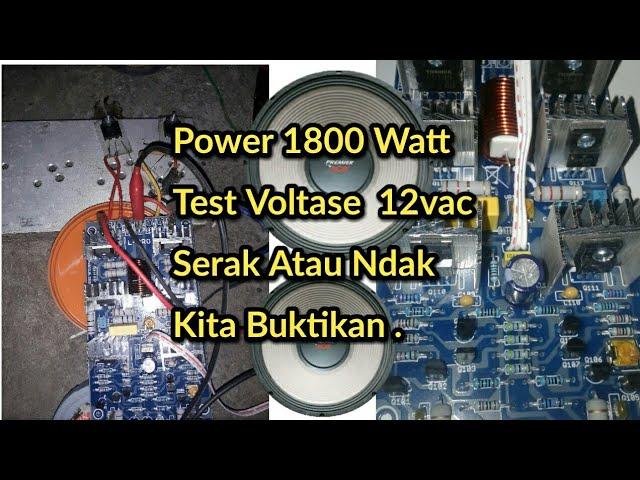 Test Power Yiroshi 1800Watt Low Sub Hoggleer.