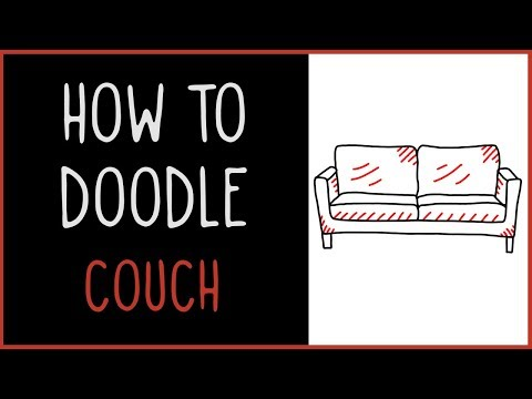 Learn How to Doodle a Couch (drawing tips)
