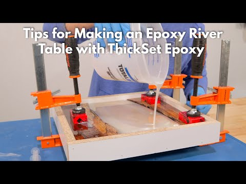 Tips for Making an Epoxy River Table with ThickSet Epoxy