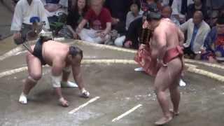 20140915 大相撲秋場所2日目 大砂嵐vs嘉風.