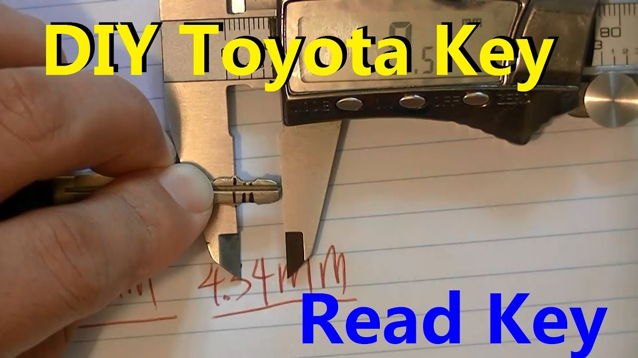 DIY Toyota Key(3/4) -How to measure Toyota Key and convert to Bitting