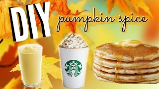 Fall Diy Pumpkin Spice Latte, Pancakes, & Smoothie | Healthy And Easy Fall Treats