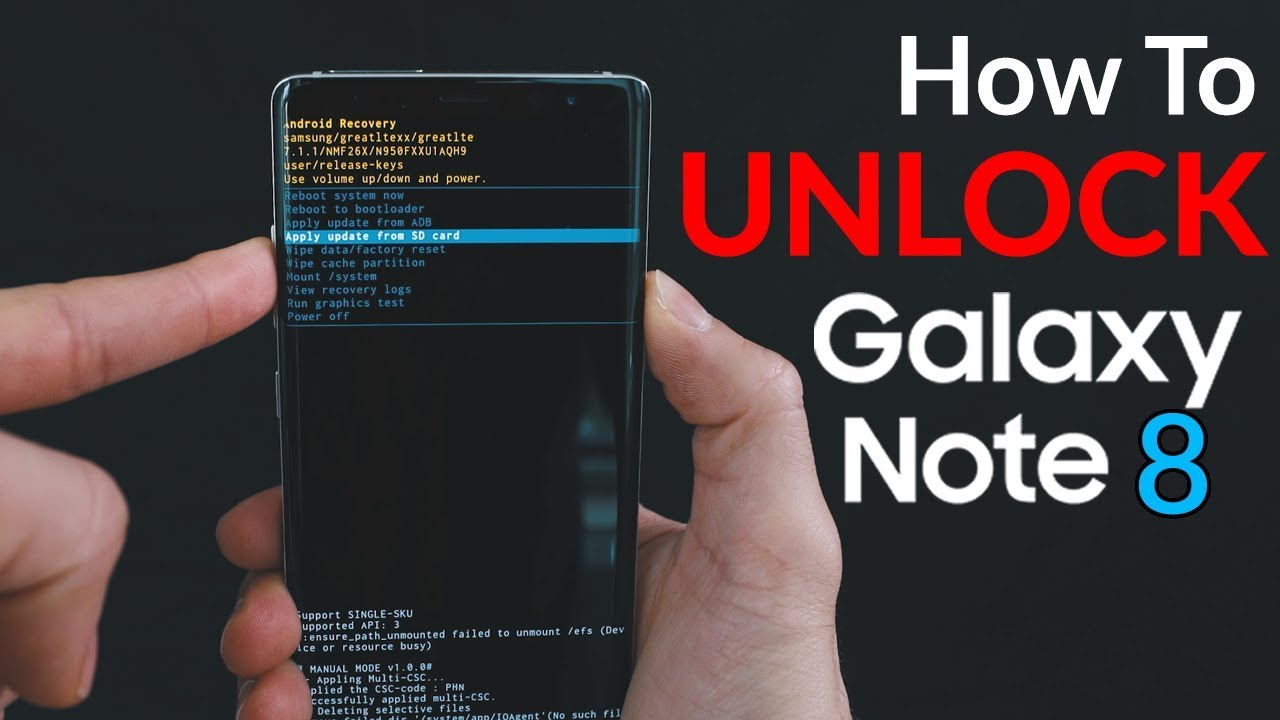 How to Unlock Samsung Galaxy Note 8  Passcode  Carrier Unlock  Hard Reset  YouTube