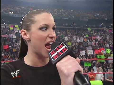 Stephanie Mcmahon is afraid of Nobody at WWF (19/02/2001) thumbnail