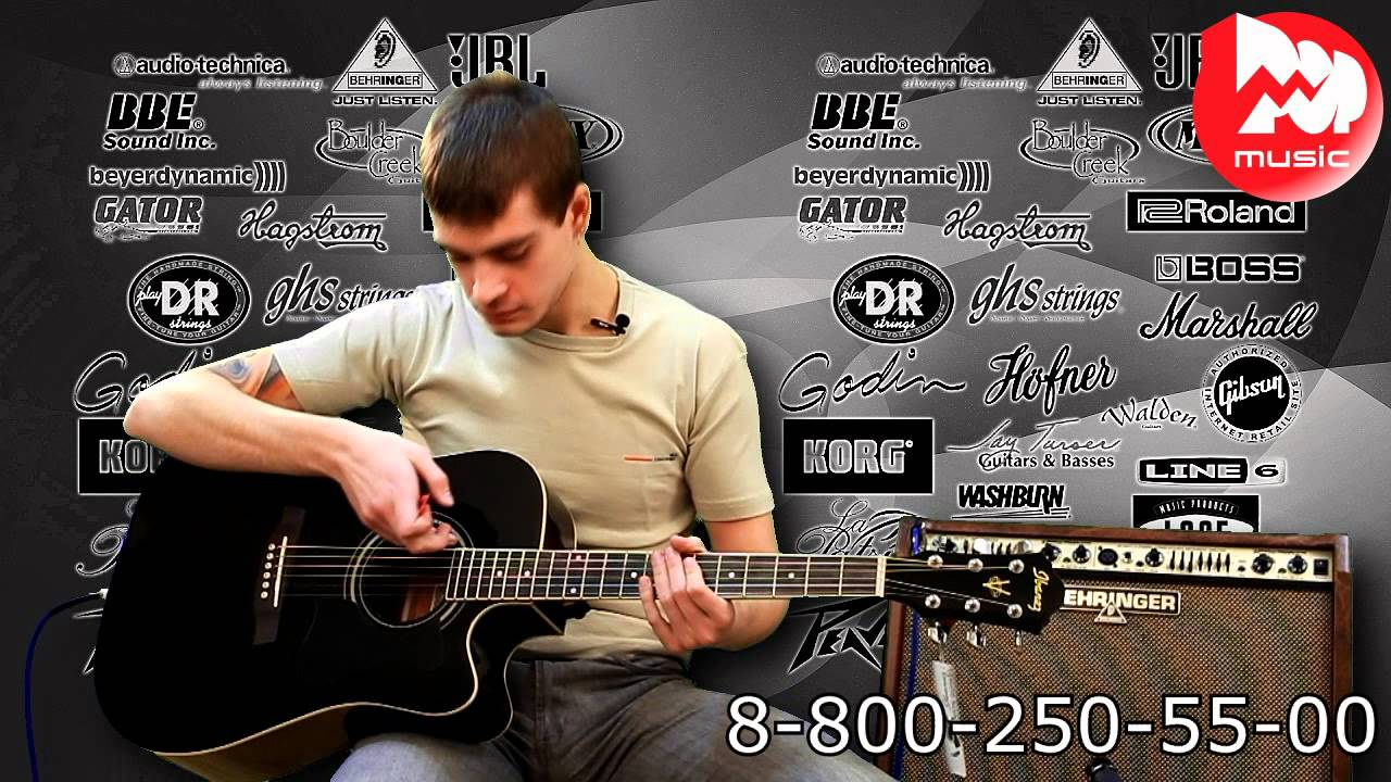 W81E OP Parkwood обзор электро акустической гитары - YouTube
