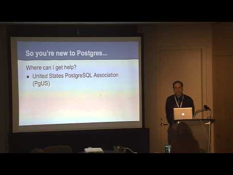 So you're new to Postgres...