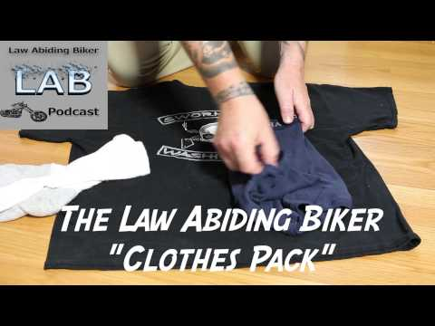 How to Fold Roll Your Clothes Compactly for a Motorcycle Trip | Biker Clothes Pack | Biker Podcast
