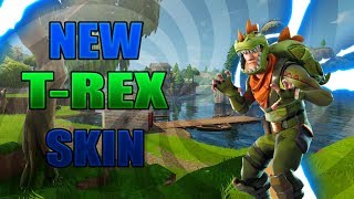 New T-Rex Skin Gameplay - Ending FAIL! ( Funny Ending ) Fortnite Battle Royale