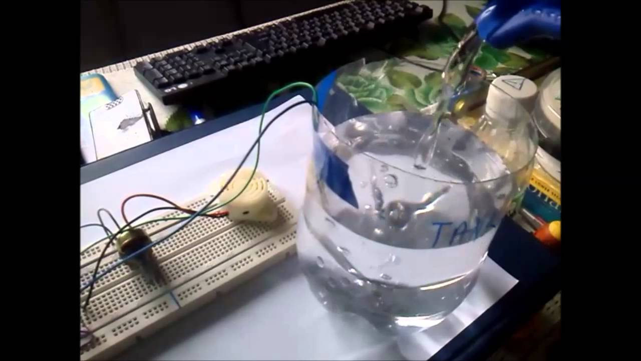 Water Level Alarmcircuit Diagrams And Demo Youtube Alarm Circuit Diagram