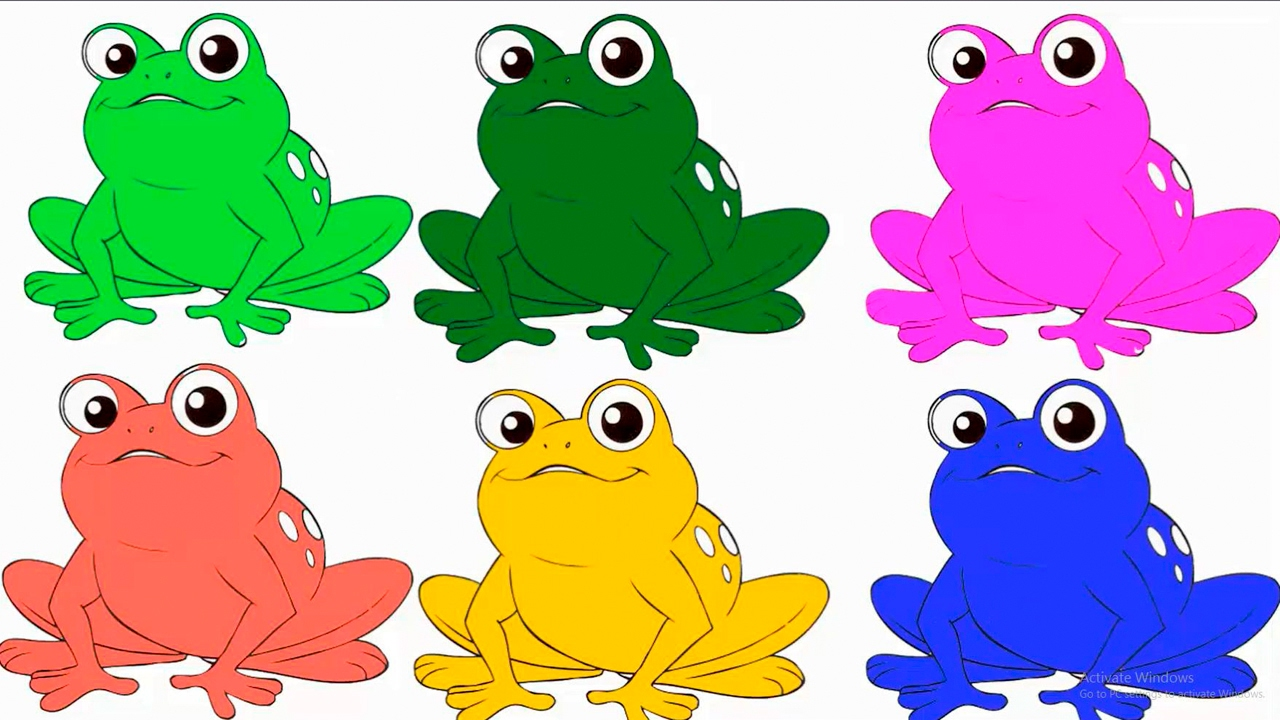 Animal Coloring Pages Book Frog, Monkey, Elephant |ColoringTV Hibaby ...