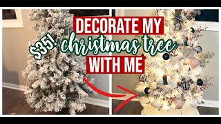 How I Decorate My $35 Christmas Tree! | Ribbons, Ornaments, Dusters 2018