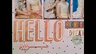 Process video - Crate paper wonder collection - Hello