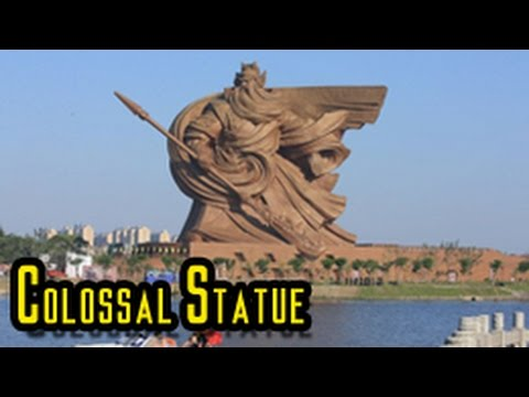 Colossal Statue Of Guan Yu In Jingzhou YouTube - China unveils colossal 1320 ton god of war statue
