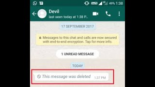 How to back your whatsapp deleted msg