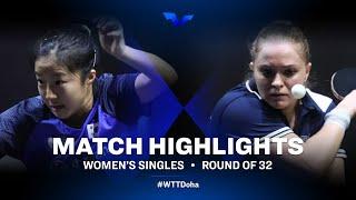 Shin Yubin vs Margaryta Pesotska | WTT Star Contender Doha 2021 | WS | R32 Highlights
