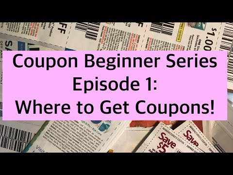 Coupon Beginner Series Episode 1: Where to get Coupons! Learn Extreme Couponing from Scratch!
