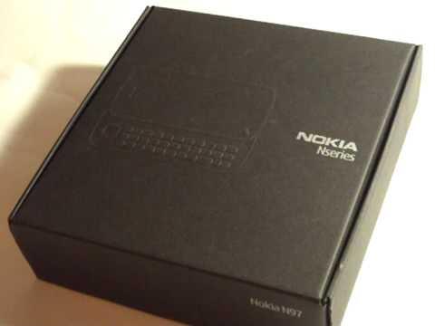 Распаковка Nokia N97