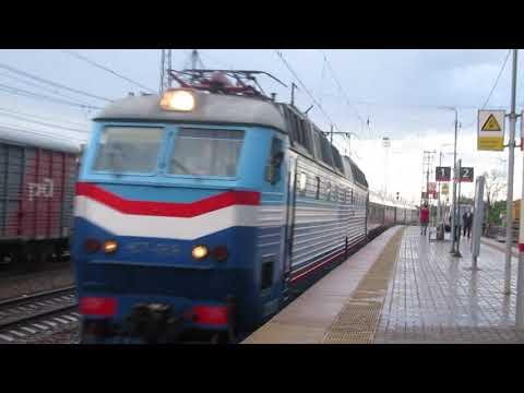 Электровоз ЧС7-059 с поездом№021Е Москва-Прага станция Кубинка-1 2.07.2018