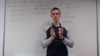 Logaritmen - De natuurlijke logaritme (VWO wiskunde B)